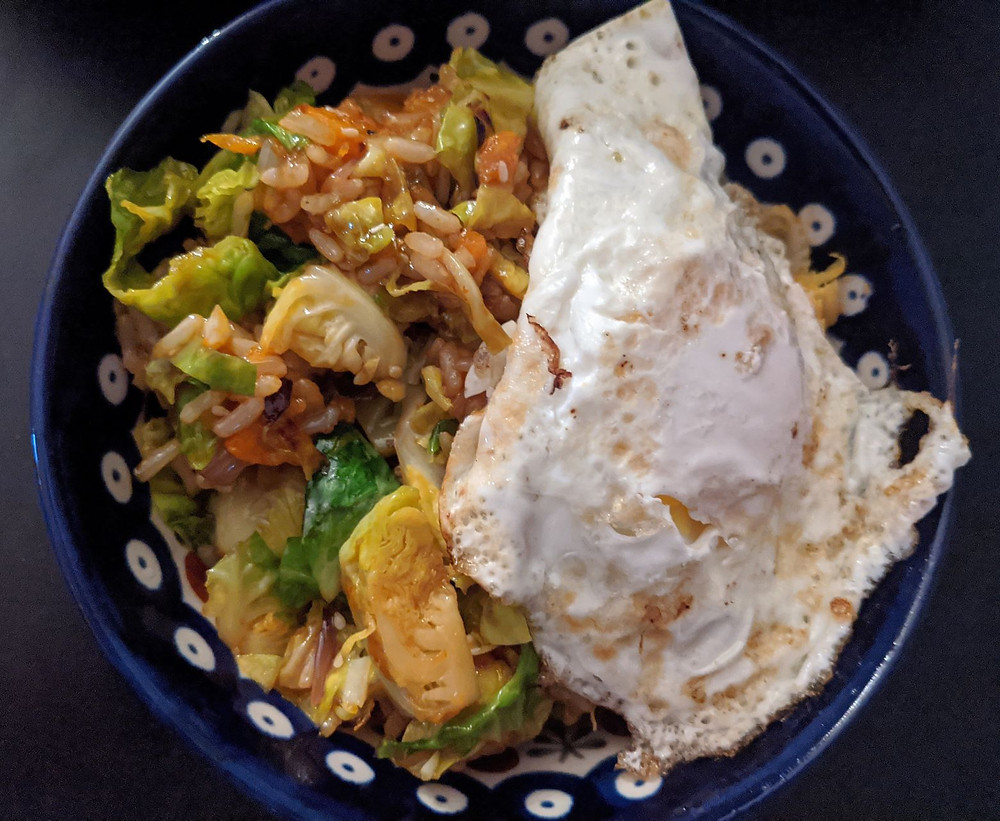 Butternut Squash and Brussels Sprout Fried Rice