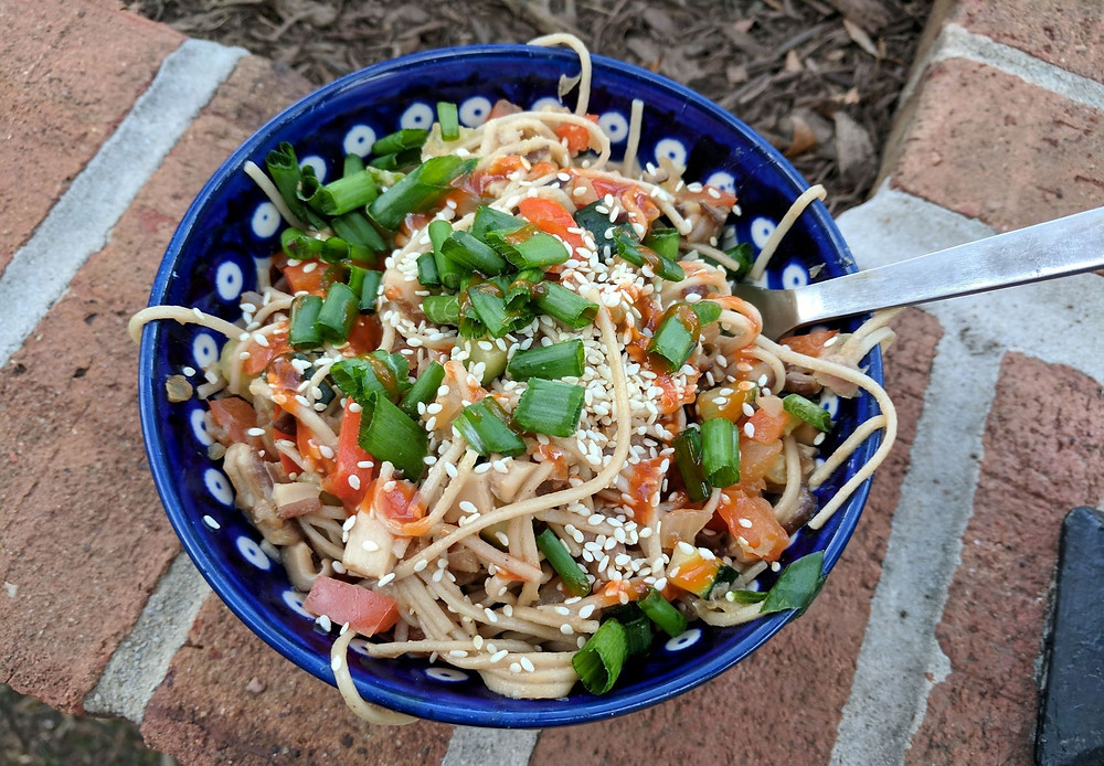 tahini soba noodles