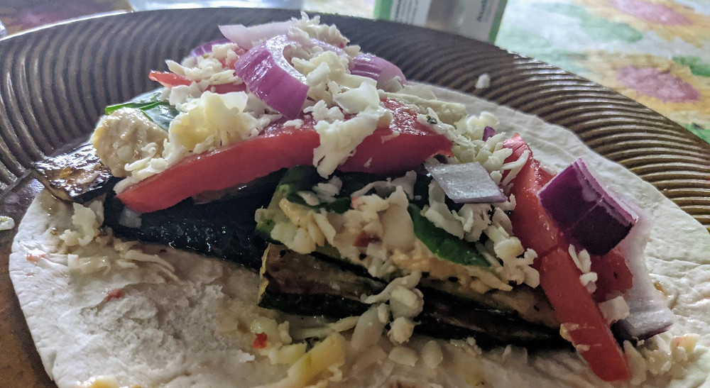 Zucchini Hummus Wrap