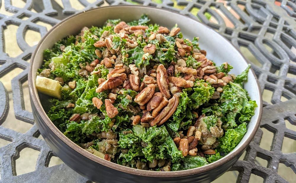 Kale & Lentil Waldorf Salad with Cashew Dressing
