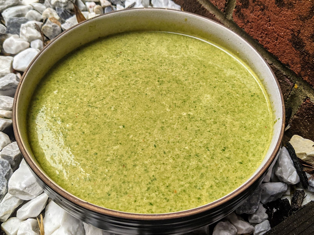 spinach pesto soup