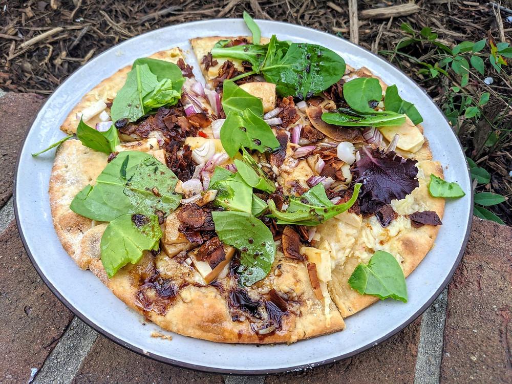 Apple & Coconut Bacon Pizza