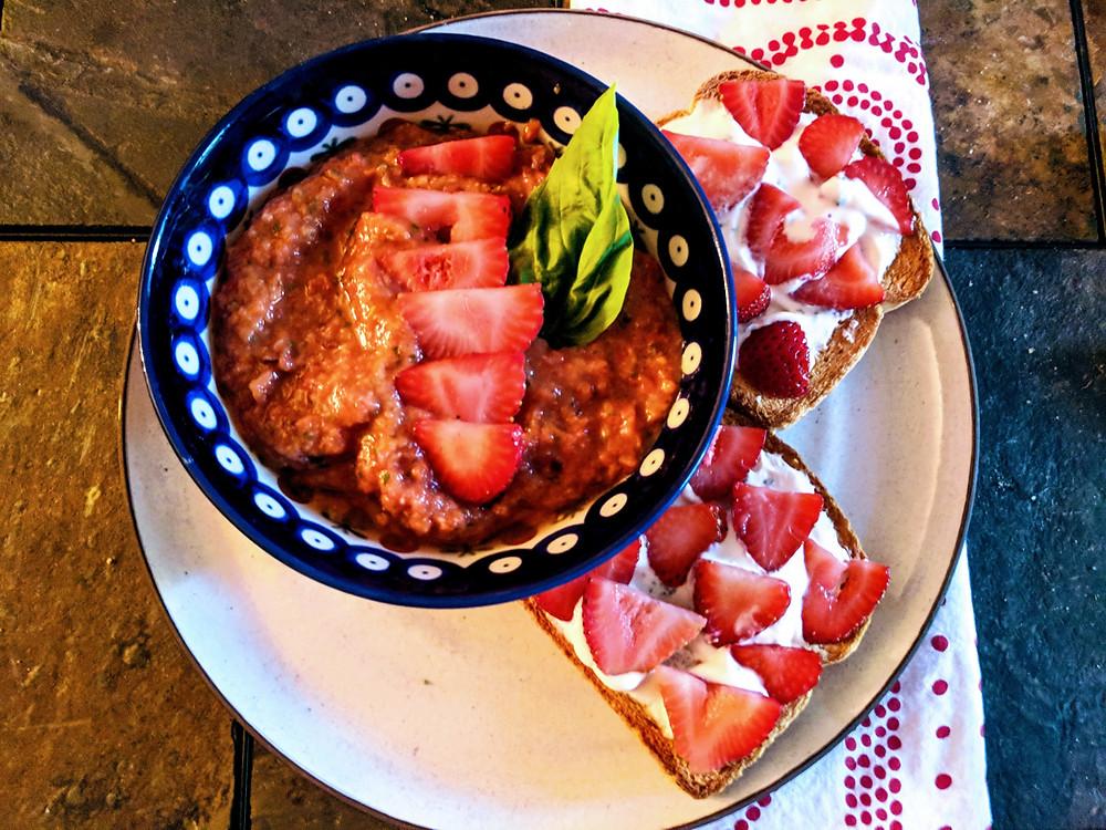 Spicy Strawberry Gazpacho