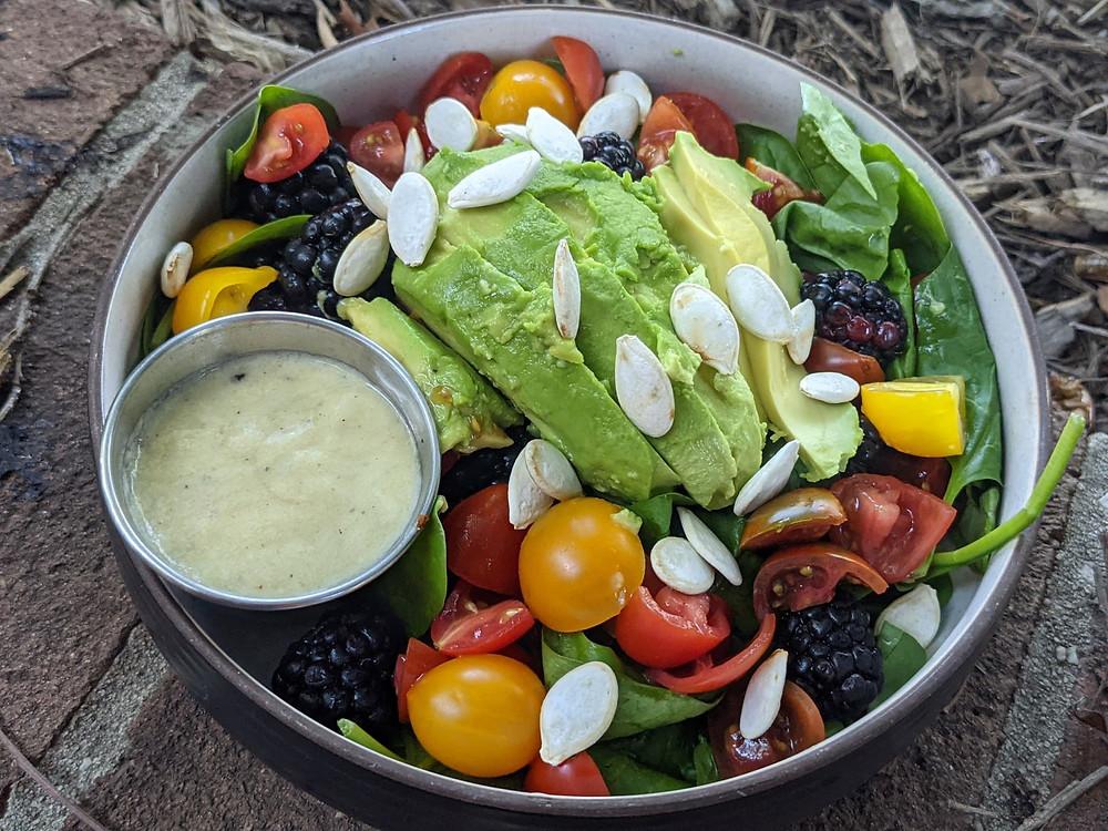 Blackberry & Tahini Summer Salad