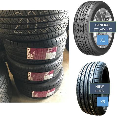 set of 4 31 new car tires