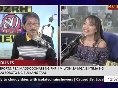 Guesting at DZRH With Love, hosted by Andy Verde