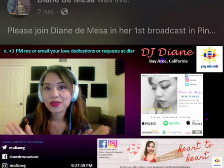 1st broadcast @ PinoyOnlineRadio