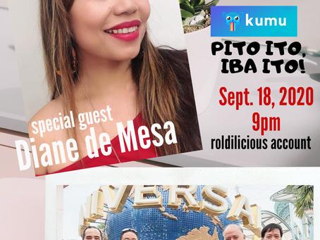 """Diane de Mesa special guest @ """"Real talk..."""" via Kumu"""