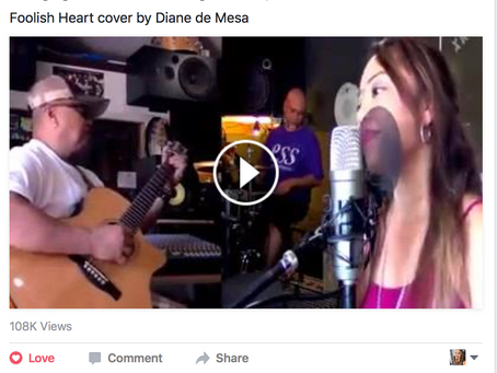 "Thank you Tee Radio for sharing my ""Foolish heart"" cover with my band!"
