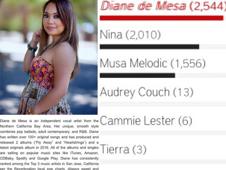 """VOTE for Diane de Mesa for """"Female Artist of the Year 2015"""" by Star Central Magazine (Aust"""