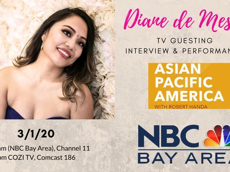 """Diane de Mesa_TV Guesting at """"Asian Pacific America"""" with Robert Handa in NBC Bay Area!"""