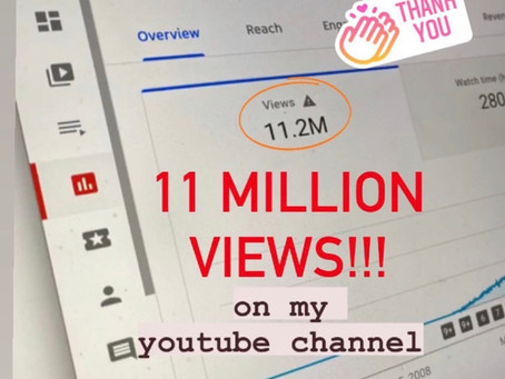11 MILLION views on Diane de Mesa's Youtube Channel!