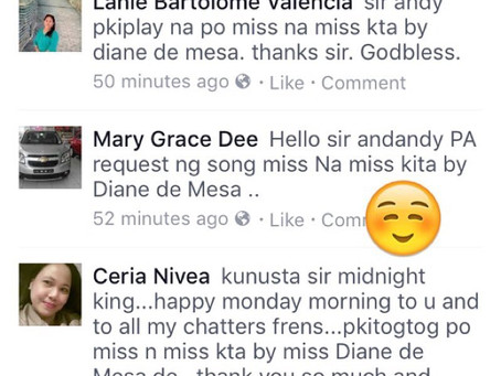 """Request """"Miss na miss kita"""" in DZRH Short time!"""