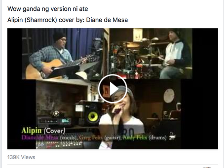 "Thank you Tee Radio for sharing my ""Alipin"" cover with my band!"