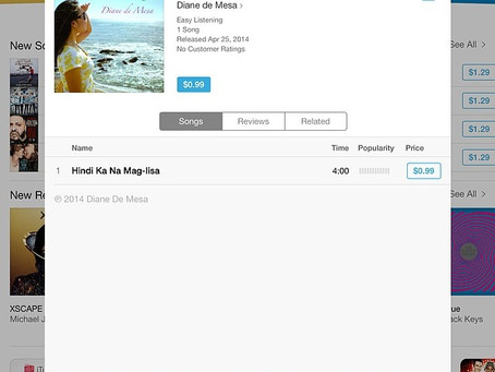 "Diane's new OPM song, ""Hindi ka na mag-iisa"" is now available on iTunes and other onli"