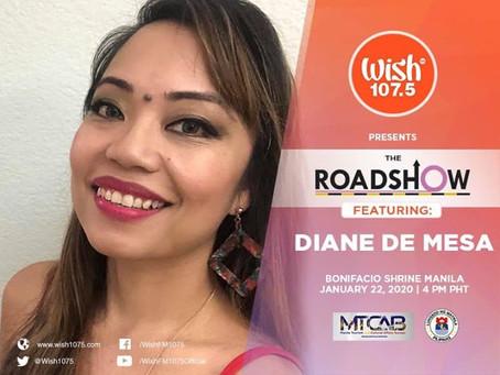 Diane de Mesa's guesting on Wish 107.5 FM!