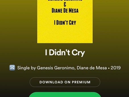 "REMIX of ""I didn't cry"" by Genesis Geronimo- Download/Stream on Spotify!"
