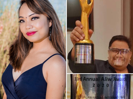"""Diane de Mesa receives """"International Multimedia Talent of the Year Award"""" from Aliw Awards"""