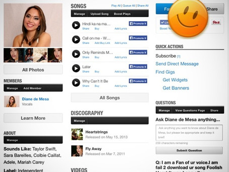 Reverbnation #4 on Singer-Songwriter Charts, San Jose, CA!