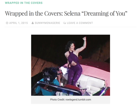 """Thank you Golden Mixtape for the feature: Wrapped in the Covers: Selena """"Dreaming of you"""""""