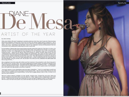 Female Artist of the Year 2015! Thank you Star Central Magazine! (Australia)