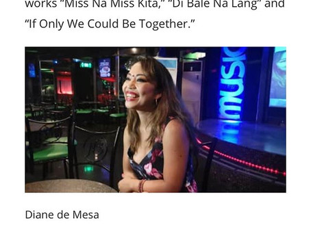 Diane de Mesa featured on Manila Bulletin!