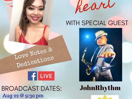 """JohnRhythm"" Diane's 1st special guest for ""Heart to heart"" broadcast!"