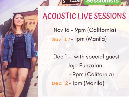 Acoustic Live Sessions. Save the dates!