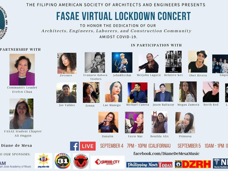 FASAE virtual lockdown concert co-organized & hosted by Diane de Mesa!