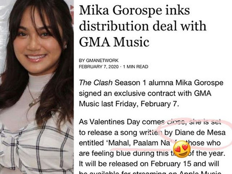 """Diane de Mesa's song composition to be released as 1st single by Mika Gorospe, """"Mahal, Paalam na""""!"""