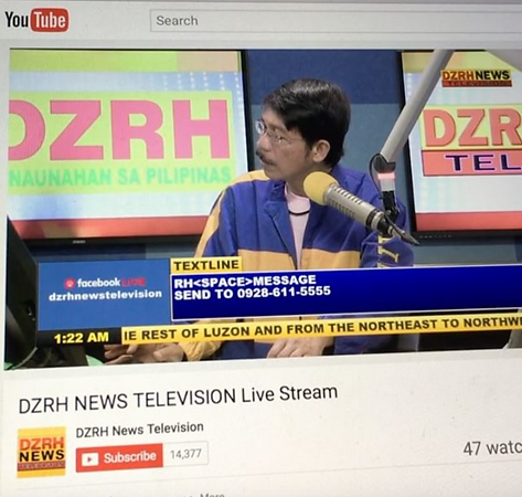 """If only (we could be together)"""" playing on DZRH Short time"""