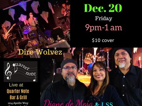Diane & LSS with Direwolvez - Live @ Quarter Note! Dec. 20!