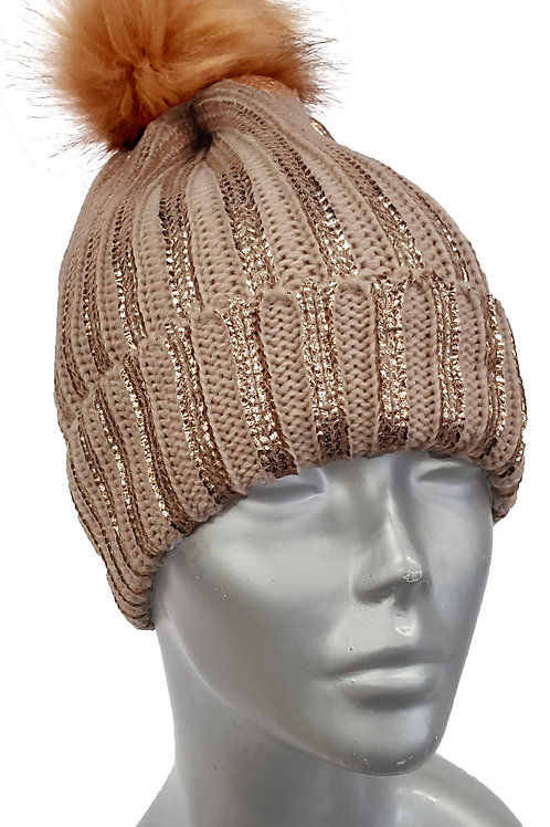 Cozy Knit 'Metallic' Beanie - Style #611F19