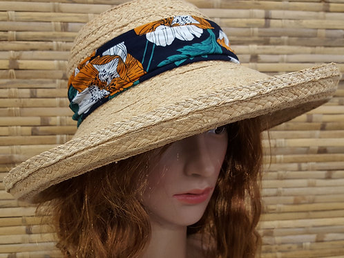 103S19 Yachting Women's summer hats for Beach vacation travel Raffia