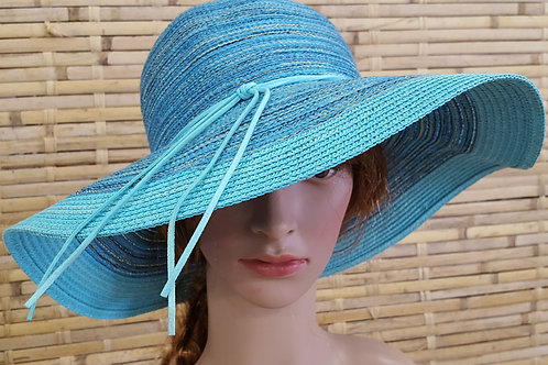 110S19 Cruising Women's Poly Braid Floppy Beach Camping Vacation Sun Summer Hat