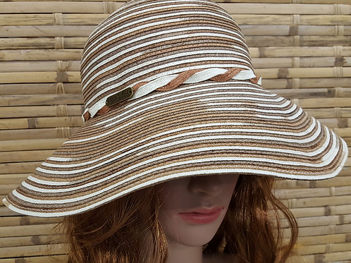 101S19 Saratoga Women's summer vacation travel cotton Poly Braid hat