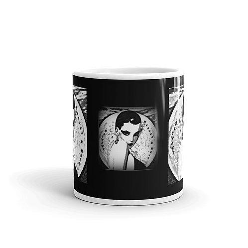 Sexy Full Moon Woman Coffee Mug Midnight Moonlight Art Boho Kitchen Decor