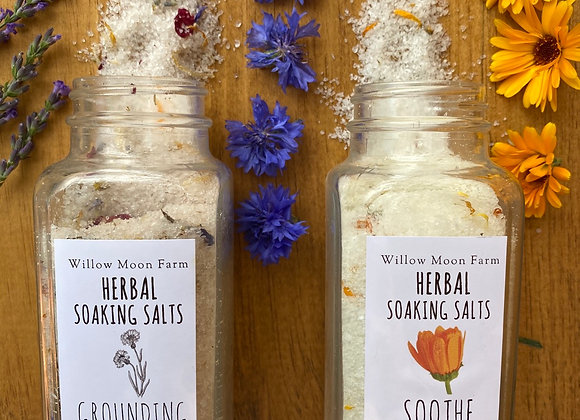 Herbal Soaking Salts - Grounding + Soothe