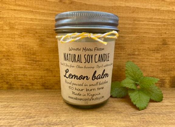 Lemon Balm Soy Candle
