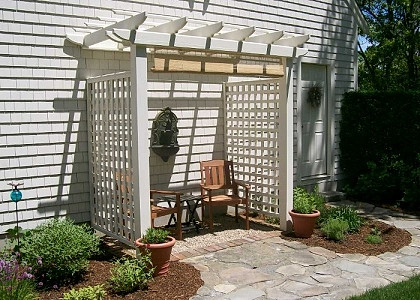 Cedar Pergola Top Arbor With English Sides