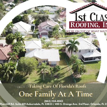 Taking Care Of Florida's Roofs...