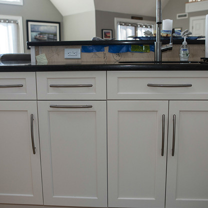 Island And Lower Cabinets