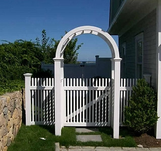 Vinyl Arbor With ColonialPicket