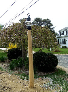 Rounded Cedar Lamp Post