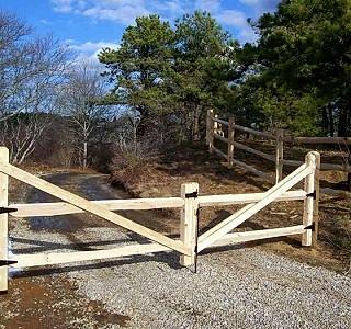 Split Rail Double Drive Gate