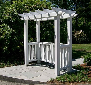 "Vinyl Pergola With 5"" English Sides"