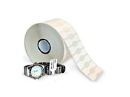 4 Rolls Thermal Jewelry Tags with Flap 2 1/8 X 1/2 - 2490/roll