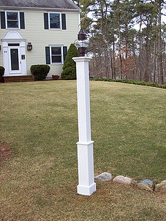 "4""x4"" PVC With Fluted 5""X5"" BASE"
