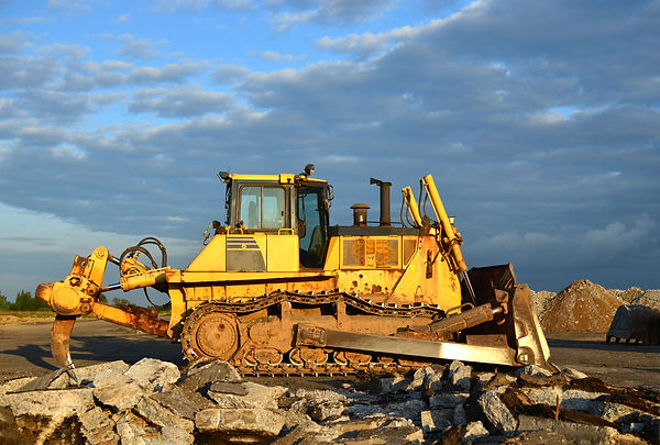 Track-type bulldozer, earth-moving equip