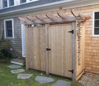 Board Shower With Pergola TopTOP
